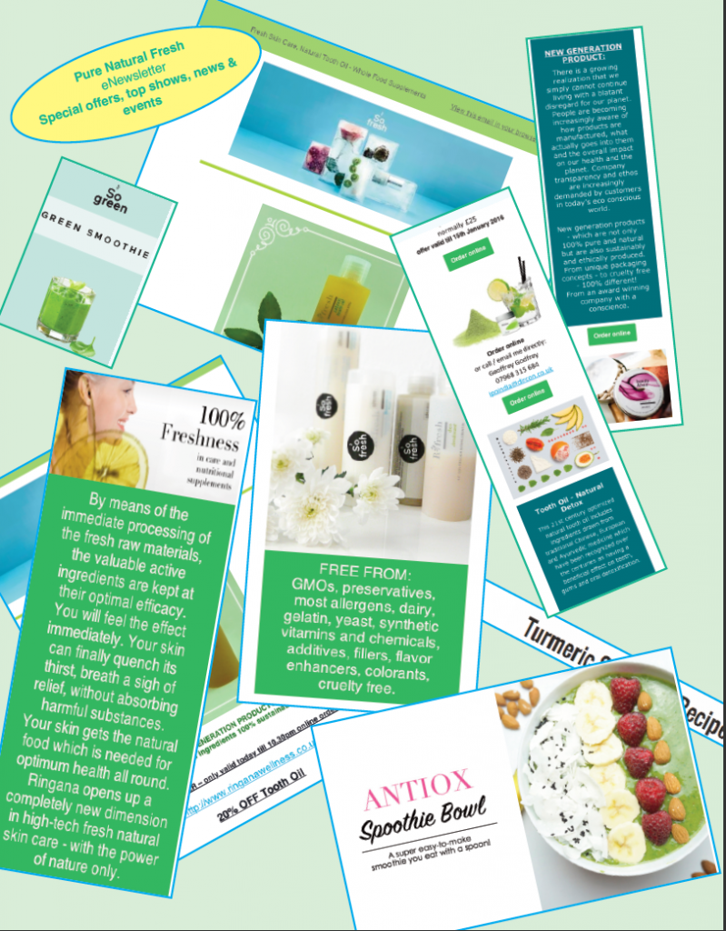 Free Pure Natural Fresh eNewsletter